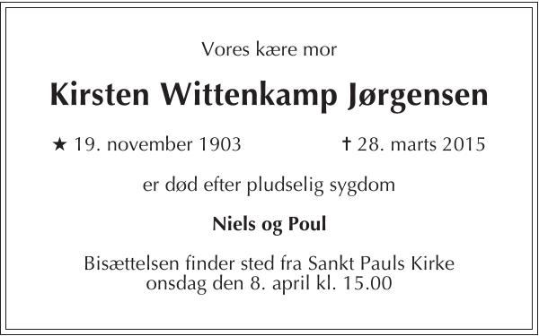 Kirsten Wittenkamp Jørgensen