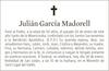 Esquela de Fallecimiento de JULIÁN GARCÍA MADORELL