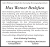 Max Werner Detlefsen