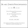 DR. CHRISTOS PAPACHRYSANTHOU