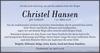 Christel Hansen geb. Gerhardt