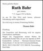 Ruth Bahr