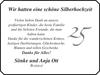 schöne Silberhochzeit Sönke und Anja Ott