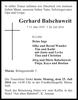 Gerhard Balschuweit