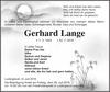 Gerhard Lange