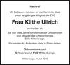 Frau Käthe Ullrich