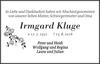 Irmgard Kluge