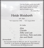 Heide Weisbarth geb. Jäger