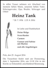 Heinz Tank
