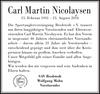 Carl Martin Nicolaysen