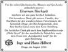 Inge und Hans Hilbert Eisernen
