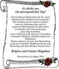 Es unvergesslicher Tag Brigitte und Günter Maguhna