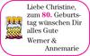 ChristineGeburts-tag Werner Annemarie