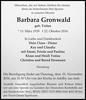 Barbara Gronwald geb. Tralau