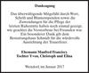 Danksagung Manfred Franciscy Yvon Christoph Und Elina
