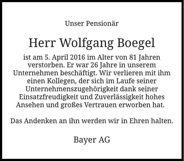 Wolfgang Boegel