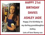 Birthday notice for DAVIES ASHLEY JADE