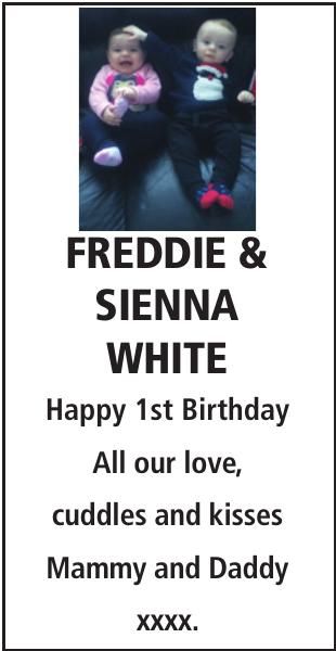 Birthday notice for FREDDIE