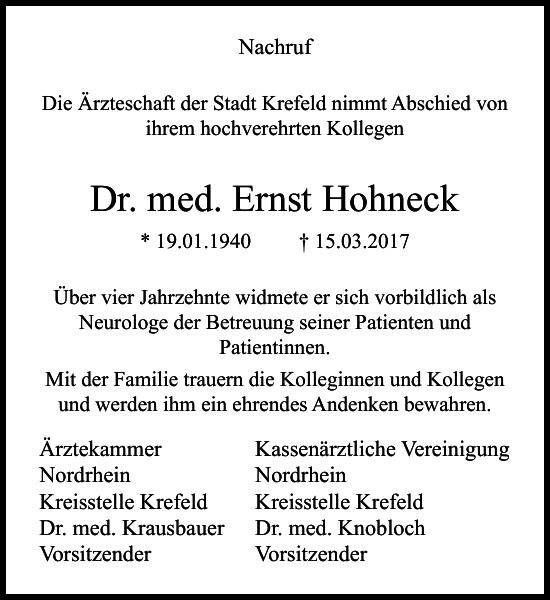 Dr. med. Ernst Hohneck