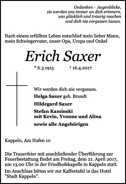 Erich Saxer