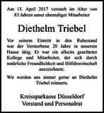 Diethelm Triebel : Nachruf