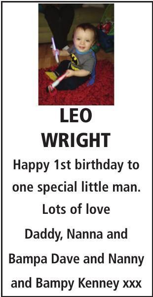 Birthday notice for LEO