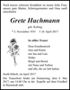 Grete Hachmann